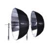 Phottix Premio Reflective Umbrella 85cm/33″ and 120cm/47″ Back Exterior / Silver Interior