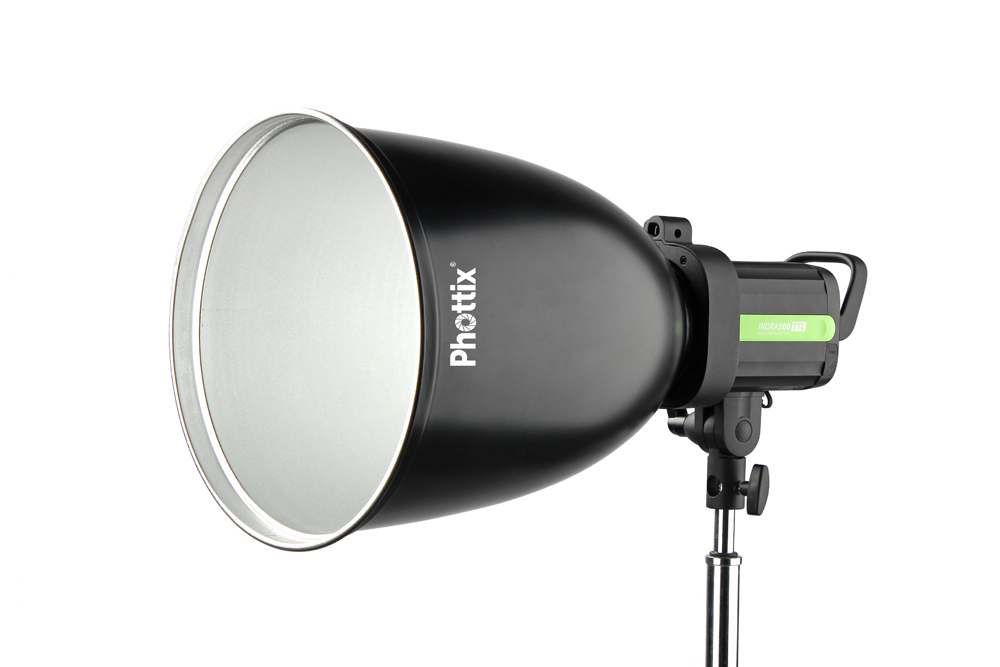 Phottix 45 ° Long Range Reflector with Grid and Diffuser (Bowens Mount, 30cm, 11.8, Silver)