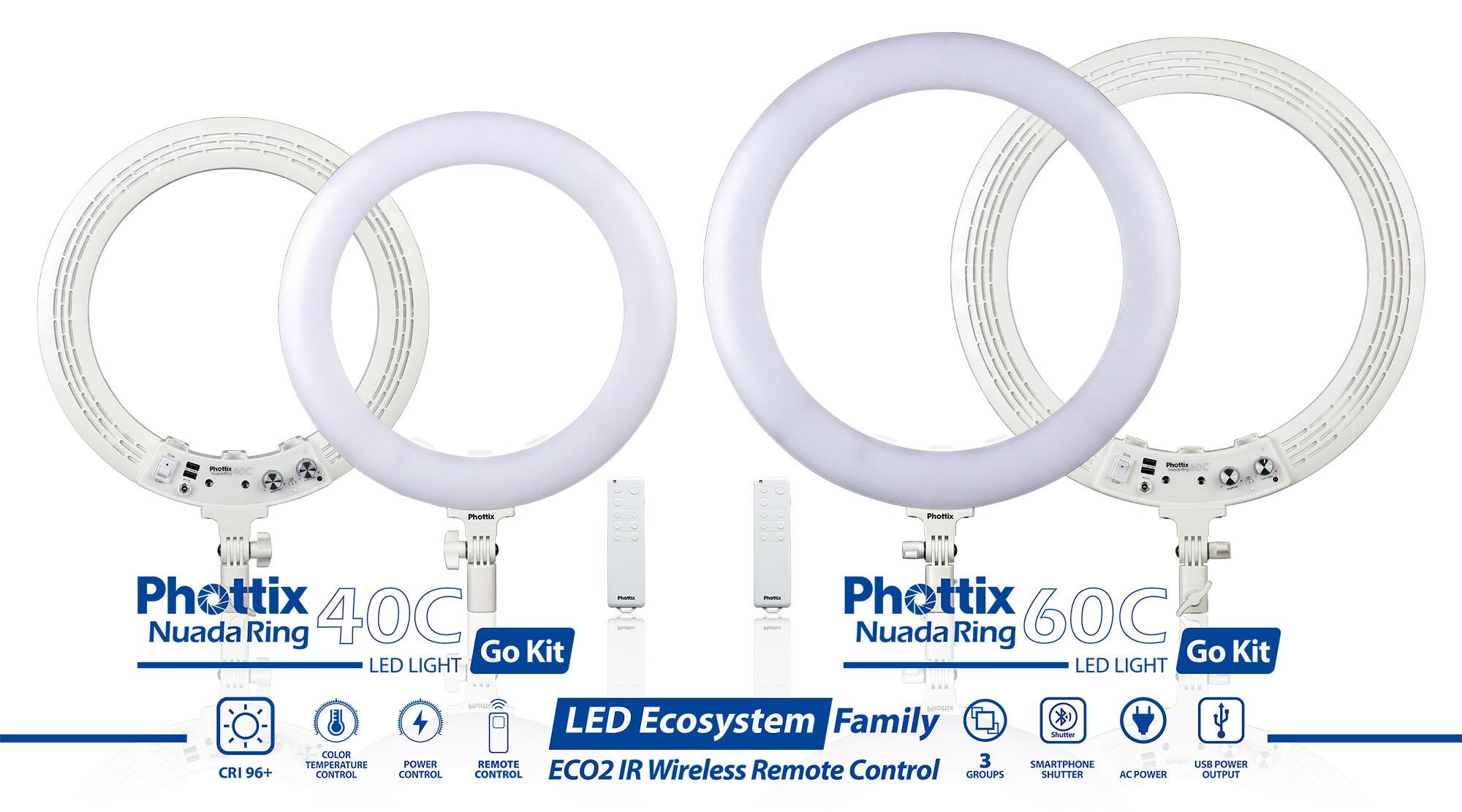 phottix led ecosystem Nuada ring40c 60c